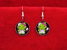 HELLO ZOMBIE KITTY RAG DOLL CLEAVER EARRINGS ROCKABILLY
