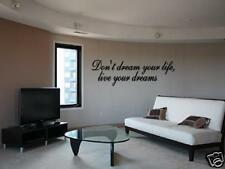 LIVE YOUR DREAMS Vinyl Wall Art Decal Home Entry  36""