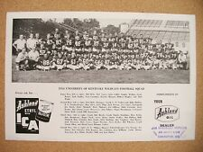 1954 Ashland Oil University of Kentucky Football Team Photo Collier Schnellenber