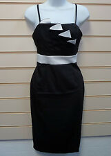Dress Black Size 10 Ivory Detail Oli Pencil Formal Evening (a001