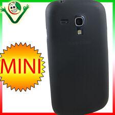 2x Pellicola+custodia 0,3mm ultra sottile Nera per Samsung Galaxy S3 Mini i8190