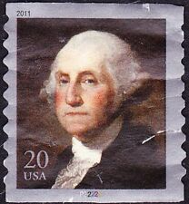 US - 2011 - 20 Cents Multi-color George Washington Coil Issue #4512 Plate P22222