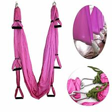 Pink Air Yoga  Exercises Swing Trapeze, Yoga Hammock/Sling/Inversion Tool