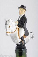 Dressage Equestrian Wine Saver Bottle Stopper Novelty Cake Decoration + Gift Box