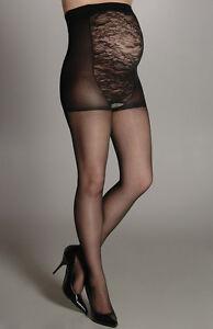 Berkshire Maternity Light Support Reinforced Toe Black Pantyhose Size A
