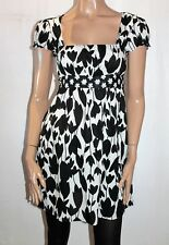 Hot Options Brand Black White Tulip Woven Skater Style Dress Size 10 BNWT #TL81