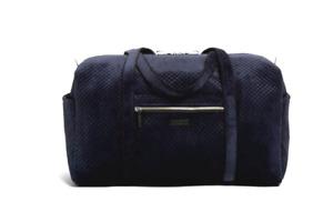 Vera Bradley **VELVET CLASSIC NAVY BLUE** Iconic Large Travel Duffel Bag  NWT