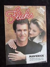 Flicks Magazine Maverick cover and feature - Mel Gibson, Jodie Foster