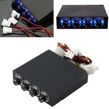 4 Channel Computer Speed Fan Controller CPU Heat Reducing w/ Blue LED for PC BT