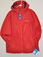 COLUMBIA ANTIMONY IV JACKET OMNI SHIELD HOODED RED MENS L AUTHENTIC NEW
