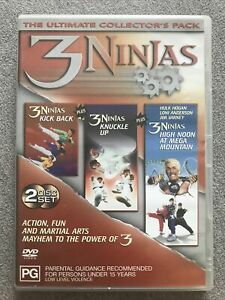 DVD - 3 NINJAS The Ultimate Collector's Pack - 2 DISC REGION 4 PAL