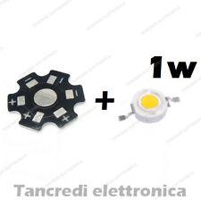 Chip led 1W bianco caldo 350mA 3V 3.6V con dissipatore alluminio lampadina bulb