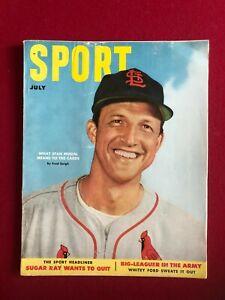 "1952, Stan Musial, ""SPORT"" Magazine (No Label) Scarce (Cardinals)"