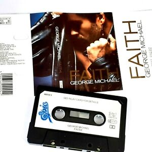 GEORGE MICHAEL FAITH 1987 CASSETTE TAPE ALBUM POP DANCE WHAM PAPER LABELS