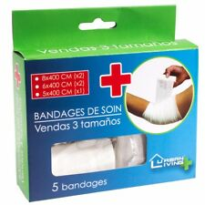 5x SMALL-LARGE CREPE BANDAGES Elastic Ache/Sprain Injury Compression Support