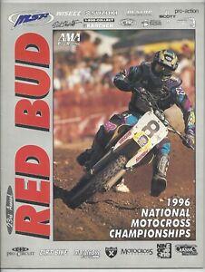 Vintage Red Bud Michigan Nationals 1996 AMA Motocross Program Mike LaRocco