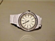 WOMENS FOSSIL STELLA CZ  BLING WHITE FACE ES 2444 WATCH