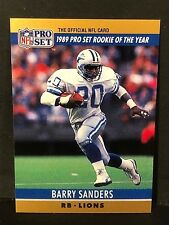 BARRY SANDERS 1990 Pro Set LOT of ( 2 ) ROY Blank Back ERROR Card #1 LIONS SP