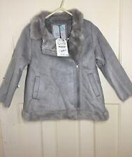 Zara Kids Faux Fur Lining Coat Size 6 Years RRP£40