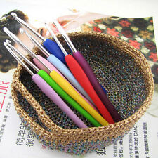 9pcs/set Silicone Rubber Crochet Template Knitting Needles For Loom Tool Band