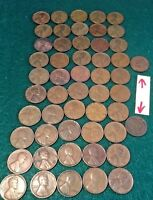 1941 to 1958 Lincoln Cent-50 coins +2bonus Indian Head