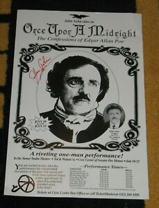 Once Upon a Midnight Edgar Allan Poe John Astin Adams Family Autographed Poster