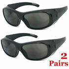 1 or 2 Pairs Full Magnifying Lens Safety Reader Glasses Z87 Reading Sunglasses