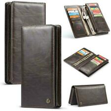 CaseMe Leather Flip Wallet Card Slots Zip Cover Universal 6.5in Phone Case UK