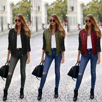 Women Warm Fashion Zipper Long Coat Jacket Trench Windbreaker Slim Parka Outwear