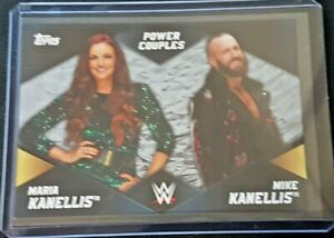 2018 Topps WWE Women's Division Power Couples Silver #01/50 Mike+ Maria Kanellis