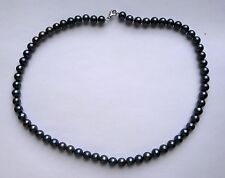 "18"" 7.5mm thick Freshwater Peacock Pearl Necklace with Sterling silver findings"