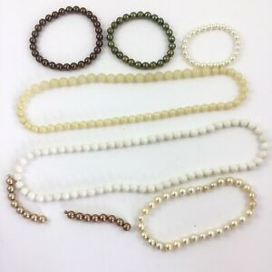 Vintage Pearlized Pop It Snap Together Beads Necklaces Bracelets Different Sizes