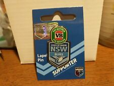 NSW Blues VB Beer State of Origin NRL Jersey  Lapel Pin Metal Badge SOO Cap
