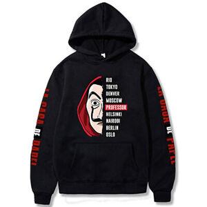 Money Heist La Casa de Papel Hoodies Sweatshirt Jacket Pullover Winter Clothes