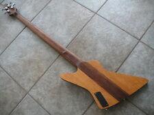Rare! Krappy 4-String Electric Bass Guitar with GigBag...Neck-Thru Design!