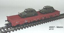 Märklin 46957 - 4MFOR Bundeswehr Wagon plat 2 x VW 181 neuf emballage scellé