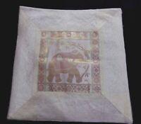 HANDMADE CUSHION COVER ELEPHANT DESIGN SILK BROCADE PILLOW/CUSHION COVER NW1