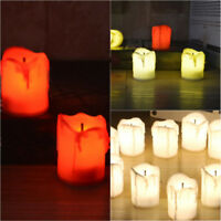 LED 12pcs Electric Battery Powered Tealight Candles Warm White Flameless Decor
