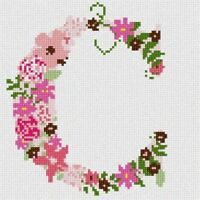 The Letter C Flowering Needlepoint Kit or Canvas (Floral/Alphabet/Letters)