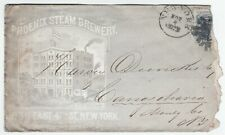 RARE Advertising Cover - Phoenix Steam Brewery c 1865 New York NY Beer H Clausen