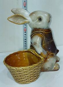 FLOPSY RABBIT Ceramic / China Figurine Flowers Holder 25cm Highx20cm Wx15cm Deep