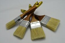 """Set of 4 - 1"""", 1.5"""", 2"""", 2.5"""" Pure Bristle Paint Brushes, Professional Quality"""
