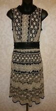 Anthropologie A'reve Black Ivory Mesh/Crocheted  Dress Sz S #3370