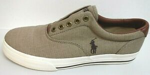 Polo Ralph Lauren Size 7 Light Brown Sneakers New Mens Shoes