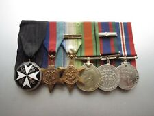 CANADIAN  WW2 GROUP MEDALS RCN NAVY WITH ST JOHN STAR. FABULOUS GROUP