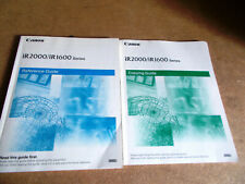 Canon iR 1600 / iR 1600 Copying & Reference Guides