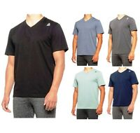 Reebok Jolt 2.0 V-Neck Short Sleeve Athletic Active Top Tee Shirt T-Shirt Men's