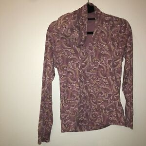 Medium The North Face Hooded T-Shirt Long Sleeve purple Women's 21-1983