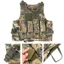 SWAT CP-Camo Combat Molle Plate Military Army Airsoft Tactical Vest Hunting