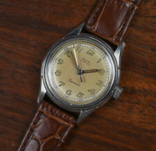 Vintage WYLER Incaflex Dynawind Breguet Numerals Sector Dial Automatic Watch SS